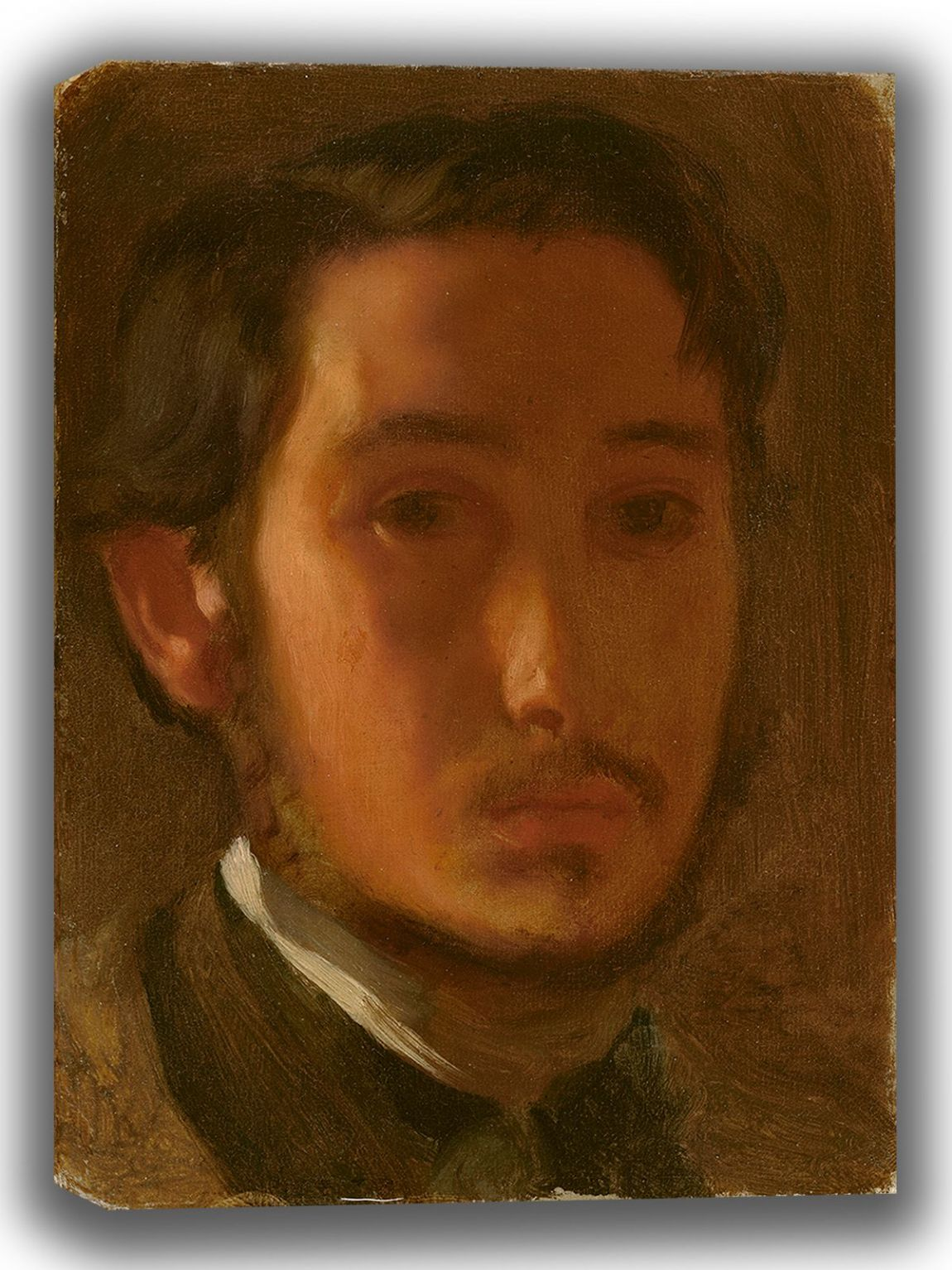Degas, Edgar: Self-Portrait with White Collar. Fine Art Canvas. Sizes: A4/A3/A2/A1 (003964)